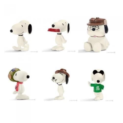 Set von 6 Figuren 5cm Snoopy UND Freunde Peanuts and Friens OFFIZIELLE...