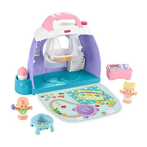Fisher-Price GKP70 - Little People Babyzimmer, zusammenklappbares und...