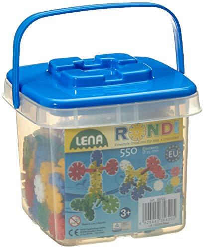 Lena 35820 - Steckspiel Rondi 25 im Eimer, 550 Teile in bunten Farben,...