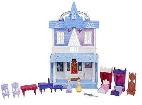 Disney Eiskönigin Pop-Up Abenteuer Schloss von Arendelle Spielset mit Griff, inklusive Elsa Puppe, Anna Puppe...
