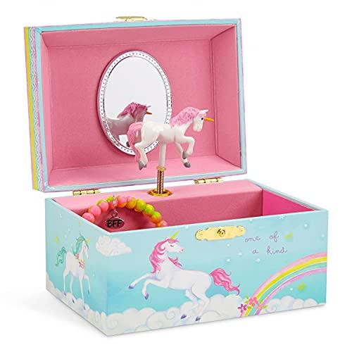 Jewelkeeper - Spieluhr Schmuckkästchen für Mädchen mit drehendem...
