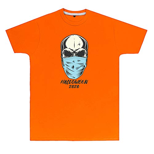 Purple Print House Unisex T-Shirt mit Totenkopf-Maske, Halloween, 2020...