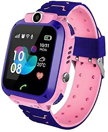 Kinderuhr Mädchen Digital Smart Watch Kinder LBS ortung Telefon rosa Smartwatch mit Spiele Kinder Ohne Handy...