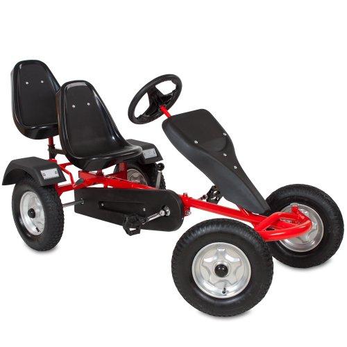 TecTake® Gokart Tretauto Go Kart Tretfahrzeug (Rot)