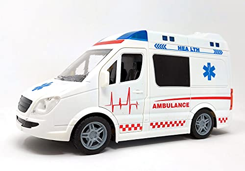 Rettungswagen Auto Spielzeug, Krankenwagen Spielzeugauto mit Blaulicht...