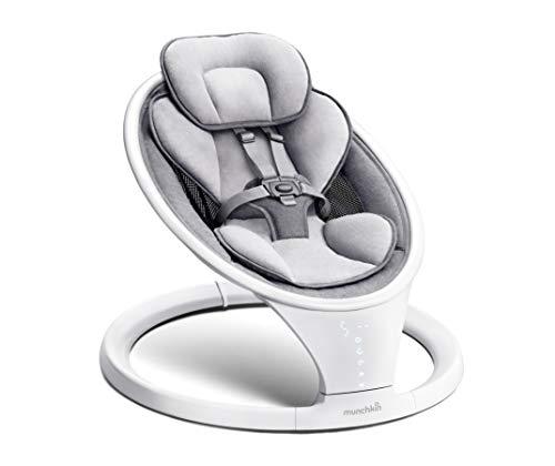 Munchkin Bluetooth-fähige, leichte Babywippe/Babyschaukel mit...