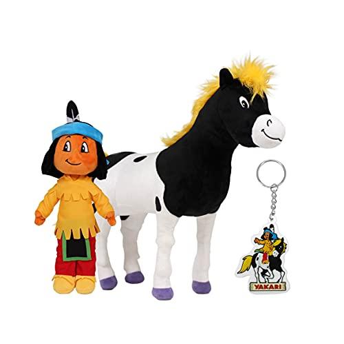Yakari Set - Plüschfiguren und Schlüsselanhänger