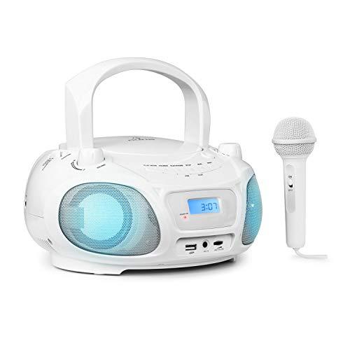 auna Roadie Sing CD-MP3 Karaoke Player Stereoanlage Boombox...