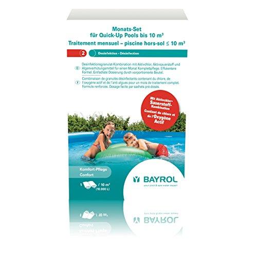 Bayrol Monats-Set Quick-Up-Pool Komplettpflege Aufstellbecken, Weiss