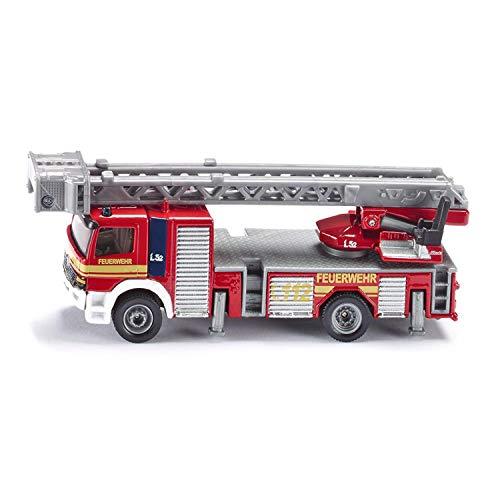 siku 1841, Feuerwehrdrehleiter-Fahrzeug, 1:87, Metall/Kunststoff, Rot,...