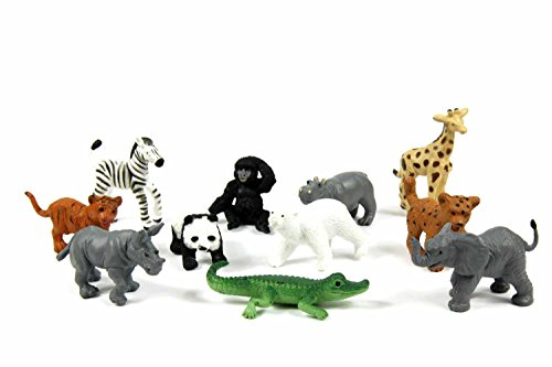 Miniblings 11x Zootiere Wildtiere Tiere Tierkinder Aufstellfiguren Zoo...