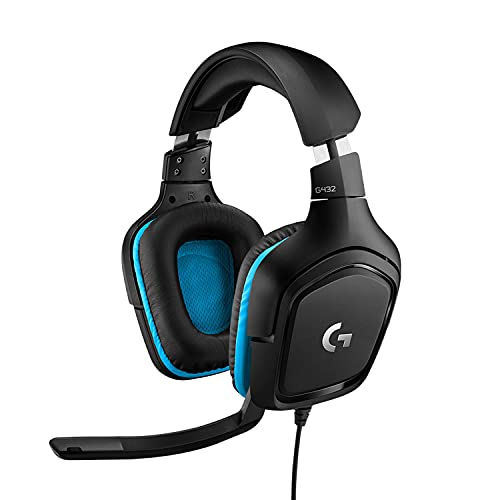 Logitech G432 kabelgebundenes Gaming-Headset, 7.1 Surround Sound, DTS...