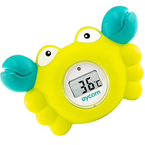 AYCORN Digitales Thermometer für Bad und Babyzimmer mit LED-Warnlampe...