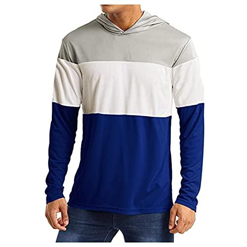 XIAOHUAHUA Hoodie Herren Langarm Striped Druck Loose Fit Sweatshirts...