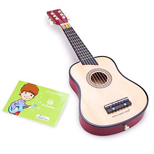 New Classic Toys - 10304 - Musikinstrument - Spielzeug Holzgitarre -...