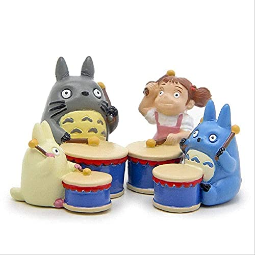LjuktD 4 Stück Anime Miyazaki Hayao Totoro Music Instruments PVC...