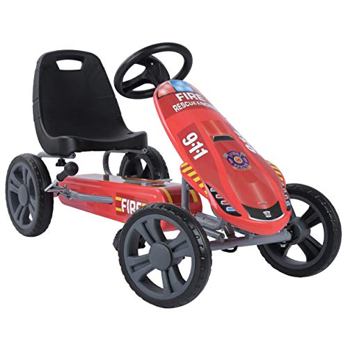 Hauck Toys for Kids GoKart Speedster - Pedal Go-Cart mit Handbremse...