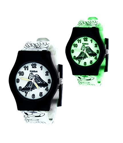 KIDDUS Lern Uhr für Mädchen, Jungen, Kinder. Analoge Armbanduhr mit...