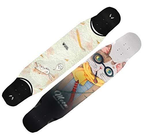 Skateboarden + Spezialtasche + Schutzausrüstung Straßenrad-Bambus...