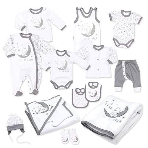 Baby Sweets Baby Erstausstattung Unisex in Weiß Grau...
