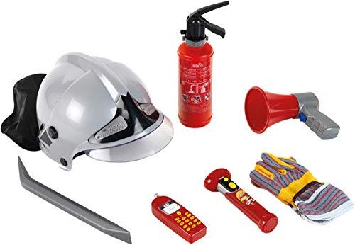 Theo Klein 8928 Feuerwehr 7-teiliges Set mit Helm, Taschenlampe und...