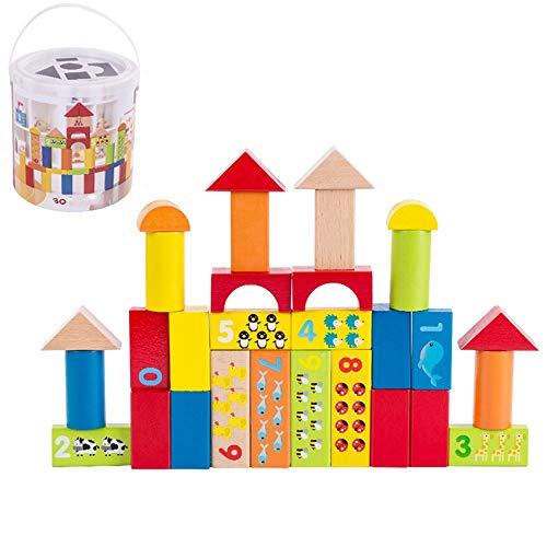 WFF Spielzeug Große Teilchen Bausteine Massivholz-Bausteine...