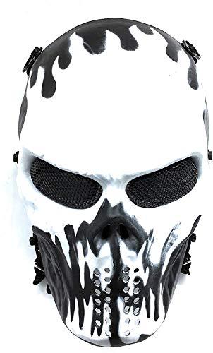 CS Schutzmaske Halloween Airsoft Paintball Full Face Skull Skeleton...