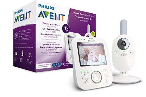 Philips Avent Babyphone mit Kamera SCD843/26 - 3,5 Zoll Farbdisplay,...