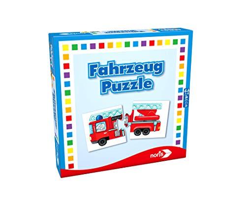 Noris 608985663 Fahrzeug Puzzle, das Memo Spiel mit...