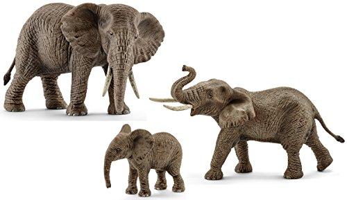 Schleich Afrikanische Elefantenfamilie 3er Set - 14761 14762 14763