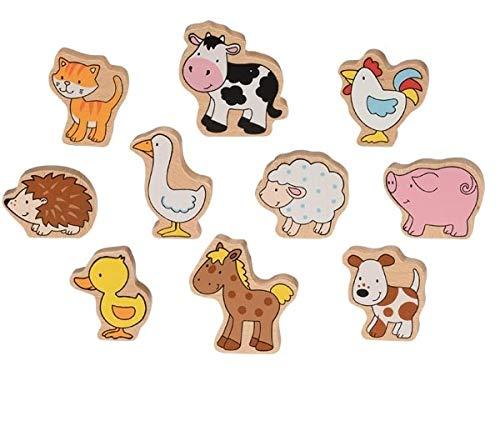 Goki 53820 Bauernhoftiere Comic-Style bunt 10-teilig...