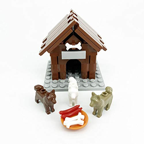 MSEI 30 + St Tier Bauernhof Bausteine Spielzeuge DIY Hündchen Tier...