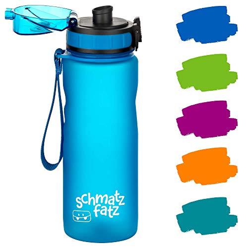 schmatzfatz auslaufsichere Sport Trinkflasche Kinder, BPA frei, 500ml,...