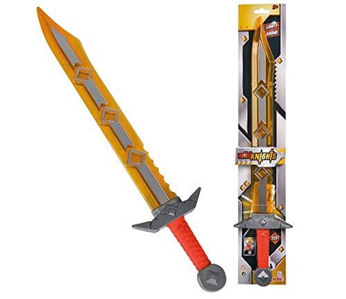 Simba 108042240 - Wild Knights Spielzeug Ritter Schwert, mit Licht und...