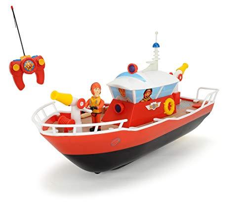 Dickie Toys RC Feuerwehrmann Sam Titan, funkferngesteuertes Boot mit verschiedenen Funktionen, Wasserspritze,...
