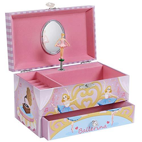 SONGMICS Spieldose, Schmuckkästchen mit Musik, Ballerina, Musikbox...
