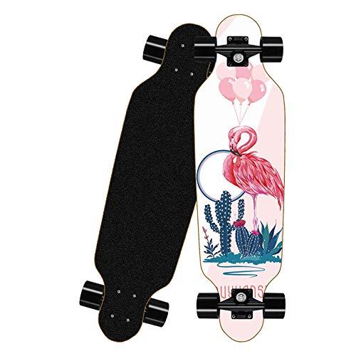 KHSKX Longboard Skateboard, Erwachsenen-Skateboard für Anfänger,...