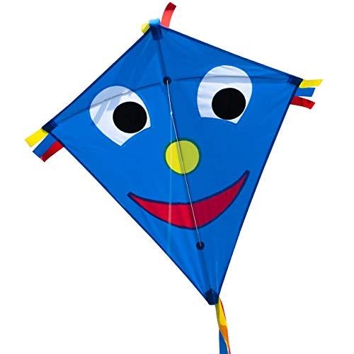 CIM Kinder-Drachen - Happy Eddy Blue - Einleiner-Flugdrachen für...
