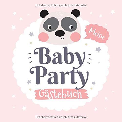 Meine Babyparty - Gästebuch: Babyshower Geschenk & Rosa Deko für...