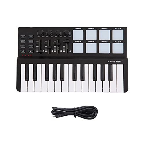 YSJJWDV Kinder Klavier Portable Mini 25-Key USB-Tastatur- und Drum Pad...