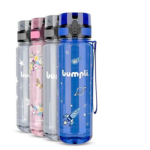 bumpli® Kinder Trinkflasche mit Weltraum-Motiv - auslaufsicher &...