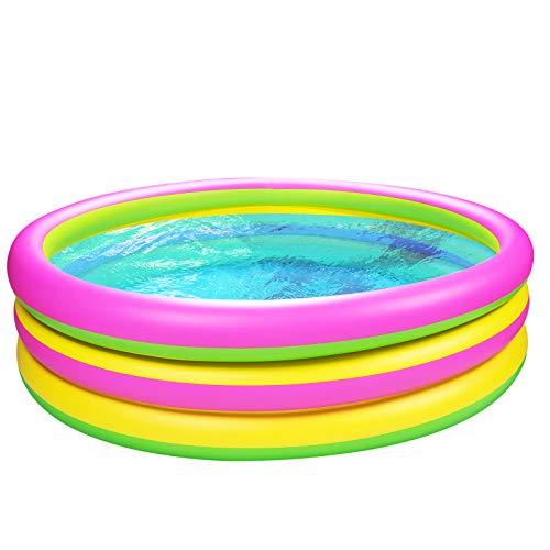 Joyjoz Kinder Planschbecken 150cm Gartenpool Aufblasbare Pool Kinder...