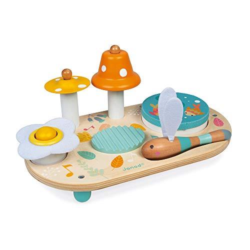 Janod - Pure Musiktisch mit 5 Funktionen - Kinder Spieltisch aus Holz...