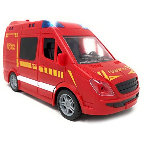 Spielzeug Feuerwehrauto mit Licht und Sound - Feuerwehr mit Sirene und...