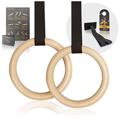High Pulse® Turnringe inkl. Türanker, Türschild + Übungsposter –...