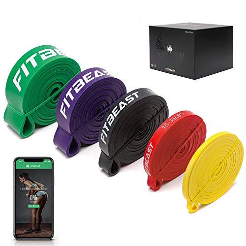 FitBeast Widerstandsband Set, 5 Verschiedene Ebenen Klimmzugband mit...