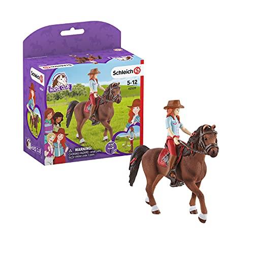 SCHLEICH 42539 Spielfigur - Horse Club Hannah & Cayenne (Horse Club),...