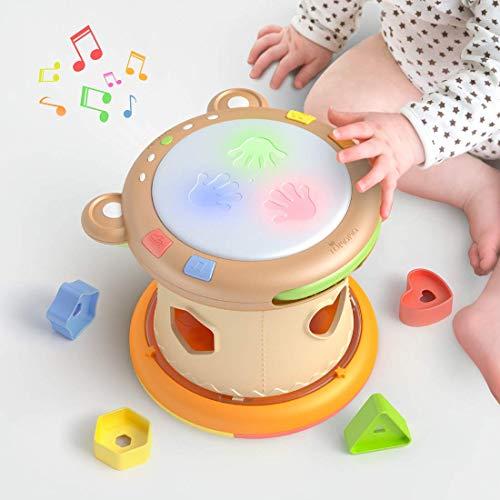 TUMAMA Baby Musik Spielzeug,Baby Trommel mit Licht und...