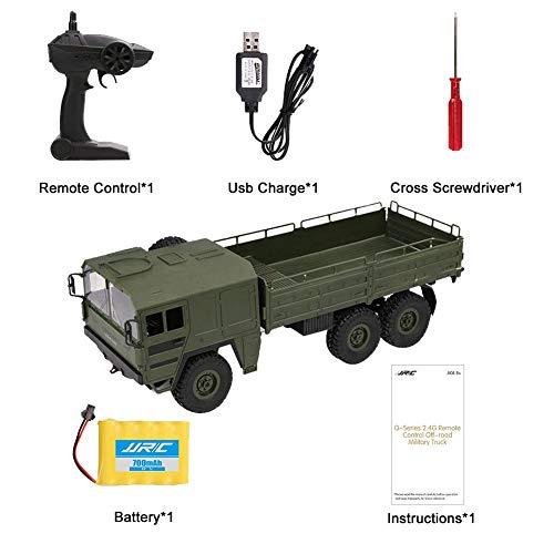 Starter Ferngesteuertes Militärfahrzeug, RC Auto Ferngesteuerte Militär LKW,JJRC Q64 Sechs Rad...