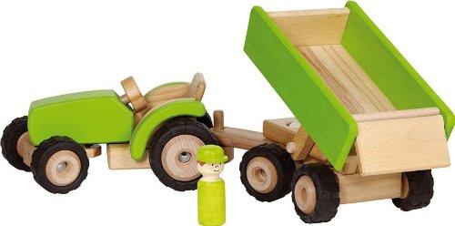 Goki 55941 - Traktor mit Anhänger, grün
